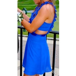 ASOS cobalt blue dress with cutouts